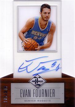 2012-13 Limited #188 Evan Fournier AU/349 RC