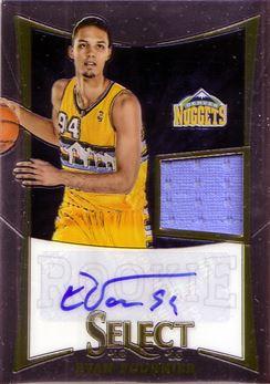 2012-13 Select #287 Evan Fournier JSY AU/299 RC