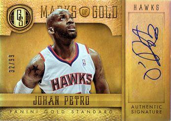 2012-13 Panini Gold Standard Marks of Gold Autographs #82 Johan Petro/99