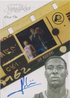 2012-13 Panini Signatures Film Autographs Platinum #103 Ian Mahinmi