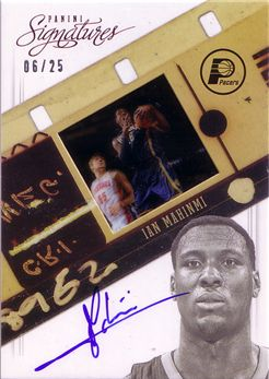 2012-13 Panini Signatures Film Autographs Red #103 Ian Mahinmi/25