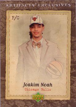 2007-08 Artifacts #212 Joakim Noah EX