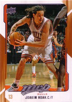 2008-09 Upper Deck MVP #20 Joakim Noah