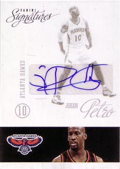 2012-13 Panini Signatures #105 Johan Petro