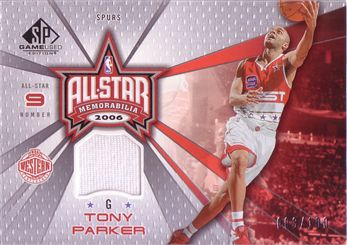 2006-07 SP Game Used All-Star Memorabilia #TP Tony Parker