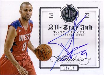 2012-13 Panini Flawless All-Star Ink #5 Tony Parker/15