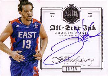2012-13 Panini Flawless All-Star Ink #10 Joakim Noah/15