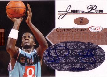 2005 SAGE Autographs Bronze #A18 Johan Petro/200