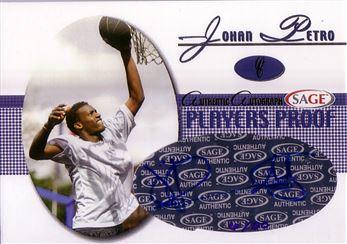 2005 SAGE Autographs Player Proofs #A18 Johan Petro