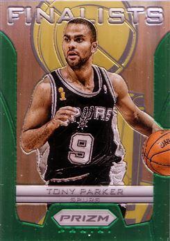 2012-13 Panini Prizm Finalists Prizms Green #23 Tony Parker