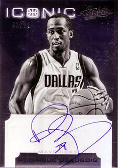 2012-13 Absolute Iconic Autographs #22 Rodrigue Beaubois/99