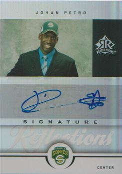 2005-06 Reflections Signatures #JP Johan Petro