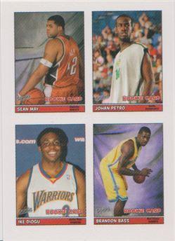 2005-06 Bazooka 4-on-1 Stickers #53 Sean May/Johan Petro/Ike Diogu/Brandon Bass