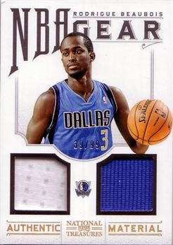 2012-13 Panini National Treasures NBA Gear Dual #27 Rodrigue Beaubois/99