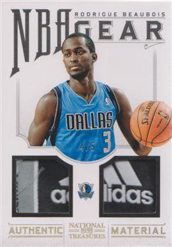 2012-13 Panini National Treasures NBA Gear Laundry Tag Combos #27 Rodrigue Beaubois/5