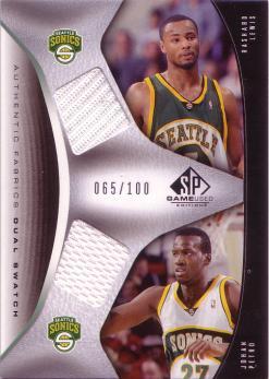 2006-07 SP Game Used Authentic Fabrics Dual #LP Rashard Lewis/Johan Petro