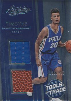 2016-17 Absolute Memorabilia Tools of the Trade Rookie Materials Dual #17 Timothe Luwawu-Cabarrot