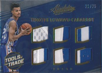 2016-17 Absolute Memorabilia Tools of the Trade Rookie Materials Six Prime #17 Timothe Luwawu-Cabarrot