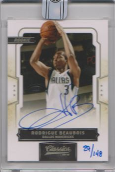 2015-16 Panini Replay Buyback Autograph Rodrigue Beaubois