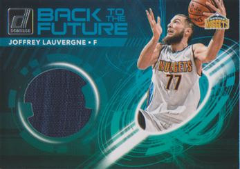 2017-18 Donruss Back to the Future Materials #8 Joffrey Lauvergne