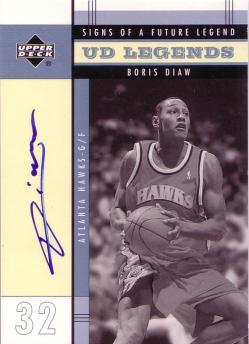 2003-04 Upper Deck Legends Signs of a Future Legend #BD Boris Diaw