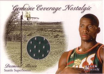2000-01 Fleer Genuine Coverage Nostalgic #9 Desmond Mason