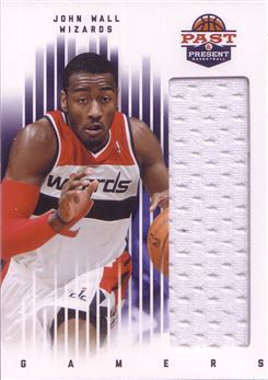 2011-12 Panini Past and Present Gamers Jerseys #42 John Wall