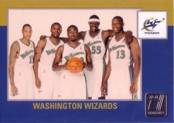 Donruss #277 - Washington Wizards Team Checklists