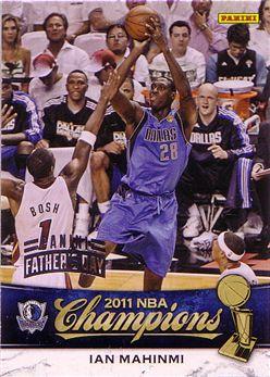2010-11 Mavericks Panini NBA Champions Father's Day #12 Ian Mahinmi - 2/5