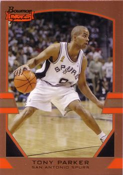 2003-04 Bowman Signature Edition Gold #5 Tony Parker