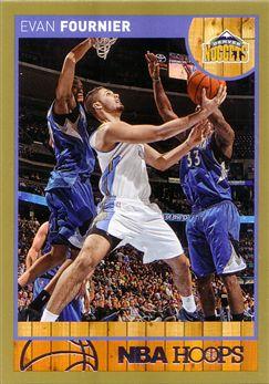 2013-14 Hoops Gold #135 Evan Fournier