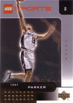 2003 Upper Deck Lego Sports Gold #6 Tony Parker