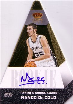 2012-13 Panini Preferred Gold #531 Nando De Colo PC AU/10