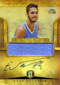 2012-13 Panini Gold Standard #247 Evan Fournier JSY AU RC