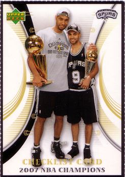 2007 Spurs Upper Deck #26 Tim Duncan/Tony Parker CL