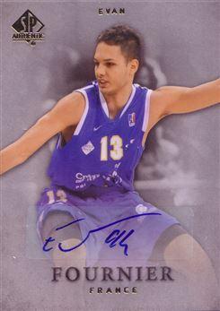 2012-13 SP Authentic Autographs #27 Evan Fournier C  AU