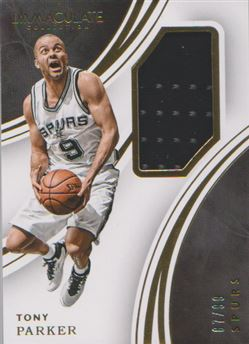 2015-16 Immaculate Collection Memorabilia #41 Tony Parker
