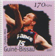 2001 Timbre Guiné-Bissau Frédéric Weis 170 FCFA