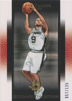 2005-06 Ultimate Collection Blue #113 Tony Parker