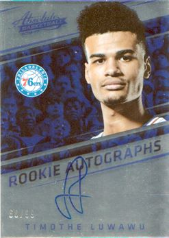 2016-17 Absolute Memorabilia Rookie Autographs #18 Timothe Luwawu-Cabarrot