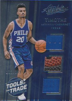2016-17 Absolute Memorabilia Tools of the Trade Rookie Materials Trio #17 Timothe Luwawu-Cabarrot