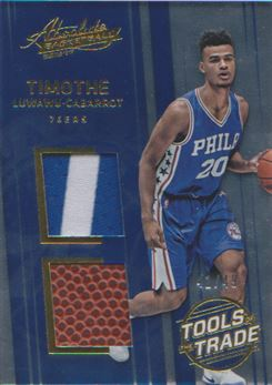 2016-17 Absolute Memorabilia Tools of the Trade Rookie Materials Dual Prime #17 Timothe Luwawu-Cabarrot