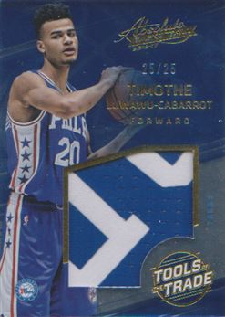 2016-17 Absolute Memorabilia Tools of the Trade Rookie Materials Jumbo Prime #17 Timothe Luwawu-Cabarrot