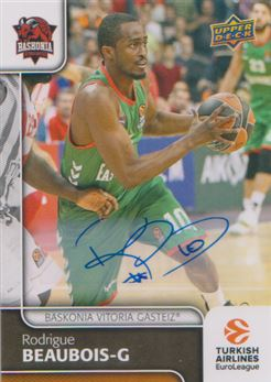 2016-17 Upper Deck Euroleague Basketball Autographs 94 Rodrigue Beaubois