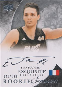 2012-13 Exquisite Collection #67 Evan Fournier AU