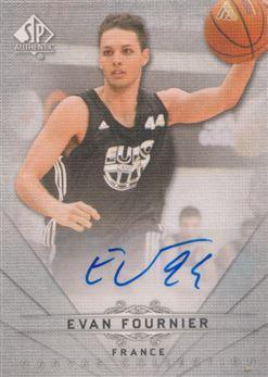 2012-13 SP Authentic Canvas Collection Autographs #CC42 Evan Fournier E