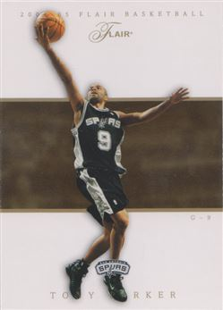 2004-05 Flair #4 Tony Parker
