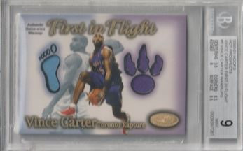 2000-01 Hoops Hot Prospects Vince Carter First In Flight #5 Vince Carter Warm-Up/1000