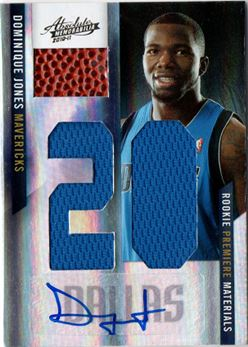 2010-11 Absolute Memorabilia Rookie Materials Jumbo Jersey Numbers Basketball Signatures #174 Dominique Jones