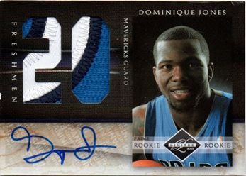 2010-11 Limited Freshmen Jumbo Jersey Numbers Prime Signatures #25 Dominique Jones
